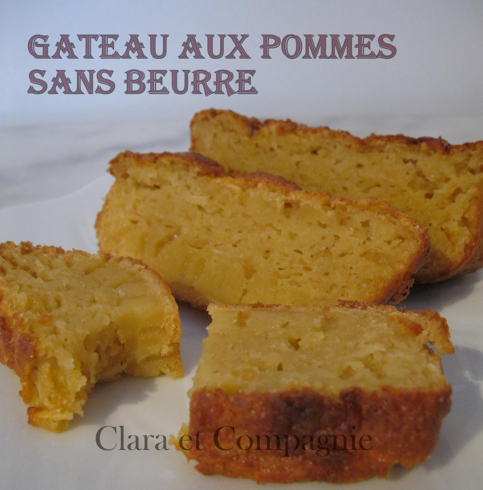 G teau aux pommes sans beurre clara et compagnie la suite - Gateau sans beurre sans lait ...